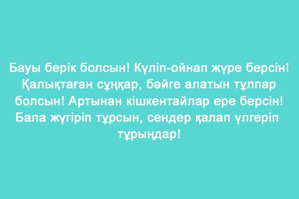 На казахском тост на новоселья